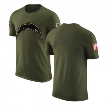 Men's Blank Los Angeles Chargers Olive Salute to Service Legend T-Shirt