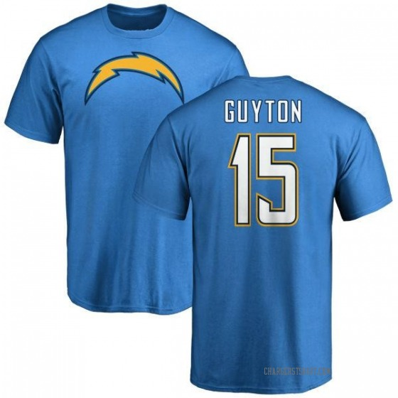 Men's Jalen Guyton Los Angeles Chargers Name & Number T-Shirt - Blue