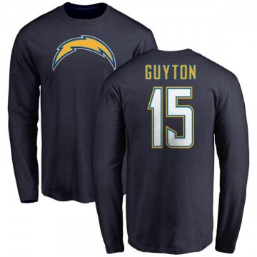 Men's Jalen Guyton Los Angeles Chargers Name & Number T-Shirt - Navy -
