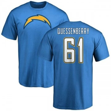 Men's Scott Quessenberry Los Angeles Chargers Name & Number T-Shirt - Blue