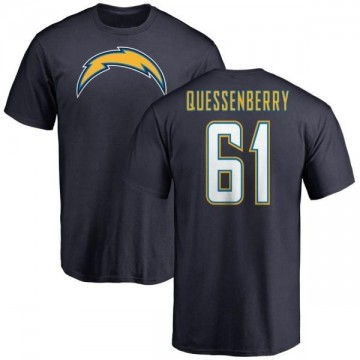 Men's Scott Quessenberry Los Angeles Chargers Name & Number T-Shirt - Navy