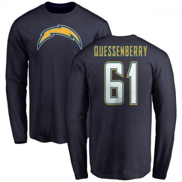 Men's Scott Quessenberry Los Angeles Chargers Name & Number T-Shirt - Navy -